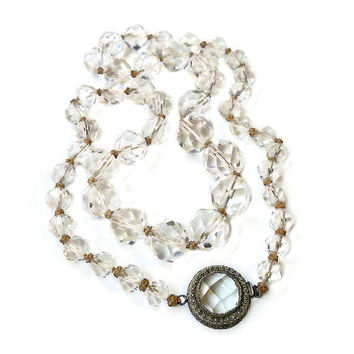 Antique Chinese Rock Crystal Necklace - Art Deco, Sterling Silver, Chinese Export, Chinese Necklace, Vintage Necklace, Antique Jewelry