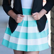 Mint All Dolled Up Striped Skirt