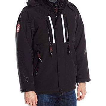 Canada Weather Gear Men's Soft Shell 3 in 1 Systems Jacket, Black, L