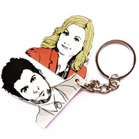 Ben and Leslie keychain