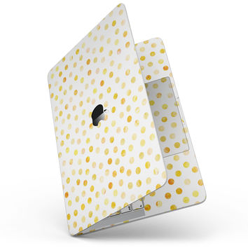 Yellow Watercolor Dots over White - MacBook Pro without Touch Bar Skin Kit
