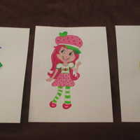 Strawberry Shortcake, Blueberry Muffin, Lemon Meringue, character art prints, 8x10, set of 3