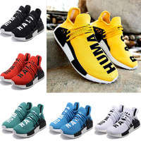 2017 NMD Human Race Runner Boost Pharrell Runners Trainers NMD Boost Running Shoes Human race Williams Pharrell X yellow red size 36-45