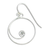 Sailing Cubic Zirconia Earrings - Sterling Silver