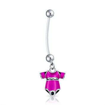 Bling Jewelry Wear Pink Navel Ring