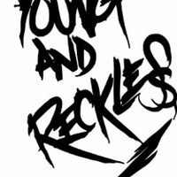 Young & Reckless Black 6 inch Sticker / Decal Drama Rob Dyrdek DC shoes Young and Reckless Graffiti Text