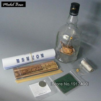 "Wooden Ship Model Kits Train Hobby DIY Model  Wooden 3d Laser Cut Chinese First Set Bottle Kit ""Catalonia"" (Excluding Bottles)"