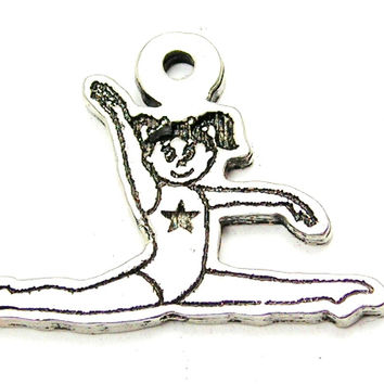Little Gymnastics Girl Genuine American Pewter Charm