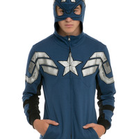 Marvel Captain America Super Soldier Costume Zip Hoodie