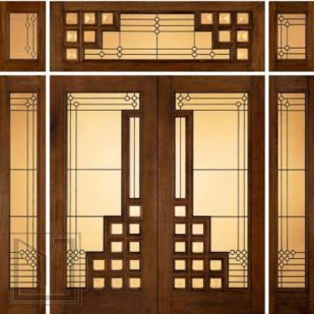 jeld-wen 260 Genuine Mahogany Doors and Sidelights Transoms