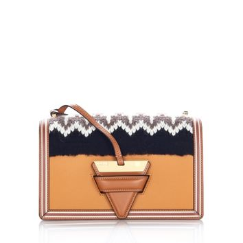 Loewe Barcelona Knit Bag in Beige Multitone/Black - Shop Luxury Handbags | Editorialist