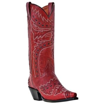 Sidewinder Leather Boot in Red