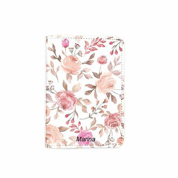 Cutie Flower Pink Customized Cute Leather Passport Holder - Passport Covers - Passport Wallet_SUPERTRAMPshop