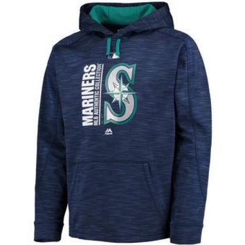 Seattle Mariners Majestic MLB Navy Ultra Streak Pullover Hoodie