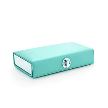 Tiffany & Co. - Ava box clutch in Tiffany Blue® satin. More colors available.