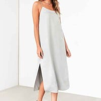 Silence + Noise Sadie Satin Midi Slip Dress