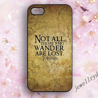 Not All Those Who Wander are Lost Lotr iPhone 5s Case,Tolkien Vintage Map iPhone 4/4s,iPhone 5C Case,Hobbit Samsung Galaxy S3 S4 S5 cover