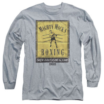 Rocky Creed Mighty Mick's Gym Adult Long Sleeve Shirt