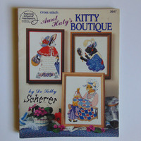 Aunt Haty's Kitty Boutique Cross Stitch American School of Needlework 1990