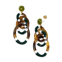Tory Burch Stripe Resin Statement Earring
