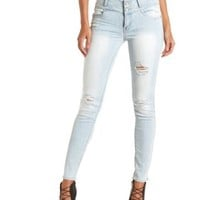 "Refuge ""Mid-Rise Skinny"" Light Wash Jeans - Lt Wash Denim"