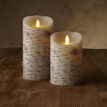"Classic Pillars - Birch Bark Unscented 5"" or 7"""
