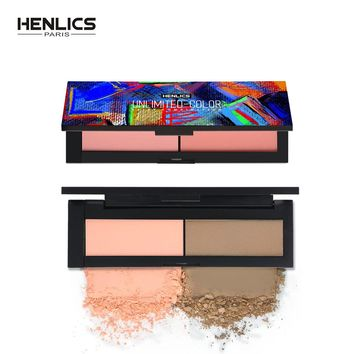 HENLICS Beauty Product Series Wonderful 2 Color Makeup Blush Face Makeup Unlimited Color Fairy Blusher Powder Palette Cosmetic