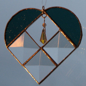 Valentine's Day Beveled Heart with Crystal Icicle