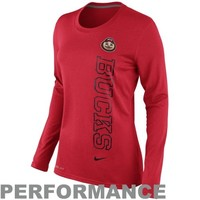 Nike Ohio State Buckeyes Ladies Mascot Legend Long Sleeve Performance T-Shirt - Scarlet