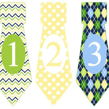 Month Stickers For Baby Boy Tie Stickers Monthly Baby Stickers Monthly Boy Ties Stickers Baby Month Stickers, Monthly Stickers CUT