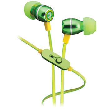Ihome Noise-isolating Metal Earbuds With Microphone (lemon-lime)