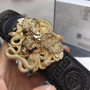 Versace mens medusa snake wings belt