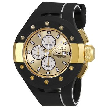 Invicta S1 Rally Chronograph Gold Dial Mens Watch 22437