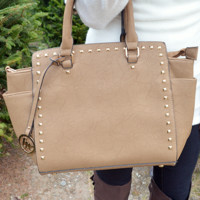 Chic In The City Purse: Tan