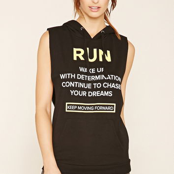 Active Run Graphic Hoodie | Forever 21 - 2000205015