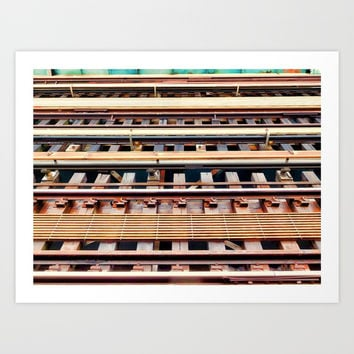 Railway tracks Art Print by lanjee
