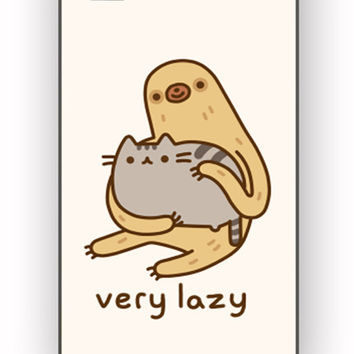 Pusheen The Cat and Sloth for iPhone 4/4S Case **