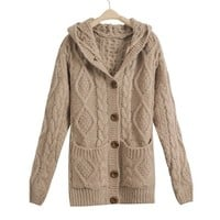 Single-breasted hooded cardigan coat thickening BBCEG from funkycatsterz