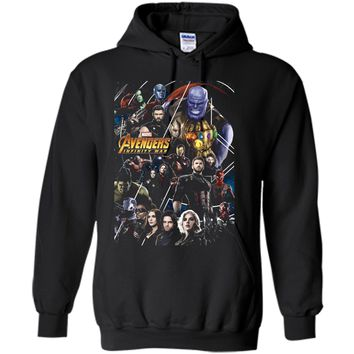 Marvel Avengers Infinity War Group Poster Graphic  Pullover Hoodie 8 oz