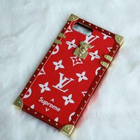 One-nice™ LV x Supreme 2017 Hot ! iPhone 8 iPhone 8 plus - Stylish Cute On Sale Hot Deal Apple Matte Couple Phone Case For iphon