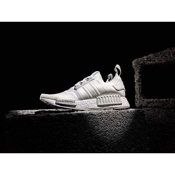 adidas NMD R1 Primeknit ¡°Triple Black¡° 3¥¹¥ȥ饤9 Men Women Sneaker