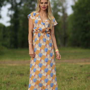 Delilah Maxi Dress Orange Floral