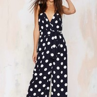 The Fifth Poetry in Motion Plunging Jumpsuit