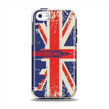 The Vintage London England Flag Apple iPhone 5c Otterbox Symmetry Case Skin Set