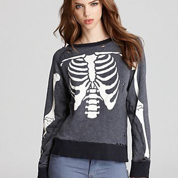 WILDFOX Sweatshirt - Inside Out Distressed | Bloomingdale's