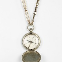 Lux Revival Compass Locket Necklace - Urban Outfitters