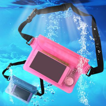 Tactical Waterproof Swimming Drifting Diving Waist Bag Underwater Dry Shoulder Backpack Waterproof Waist Belt Pocket