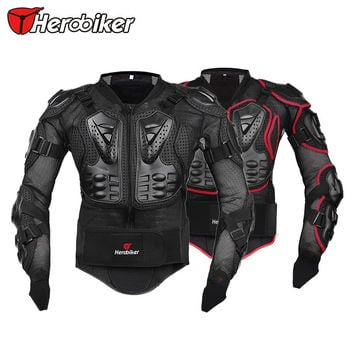 HEROBIKER Professional Motocross Off-Road Protector Motorcycle Full Body Armor Jacket Protective Gear Clothing S M L XL XXL XXXL