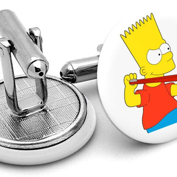 Bart Simpson Alternate Cufflinks