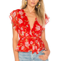Lovers + Friends x REVOLVE Butterfly Top in South Beach Floral